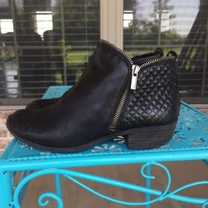 Lucky Brand Bartalino Leather Moto Quilted Booties